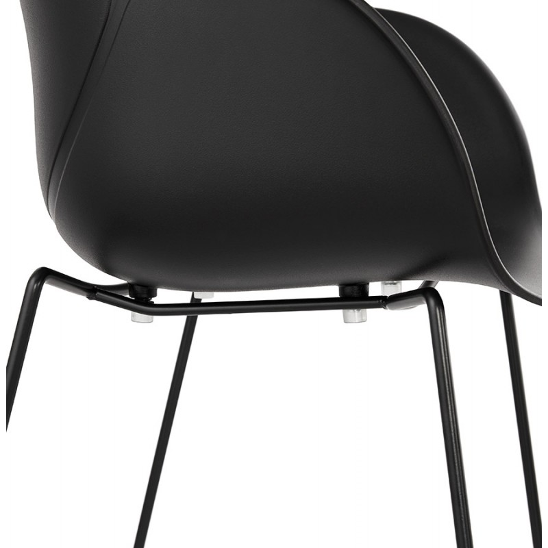 CIRSE Designstuhl aus Polypropylen schwarz Metallfüße (schwarz) - image 43279
