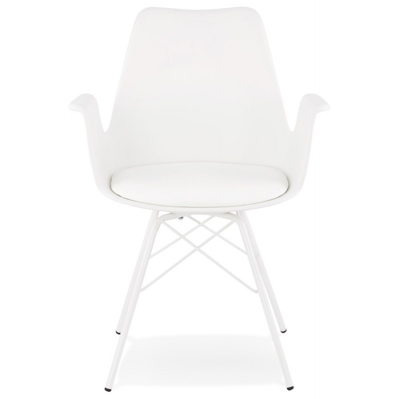 Industrial design chair with ORCHIS armrests in polypropylene (white) - image 43307