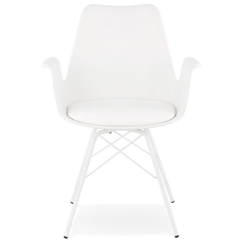 Chaise design industrielle avec accoudoirs ORCHIS en polypropylène (blanc) - image 43307