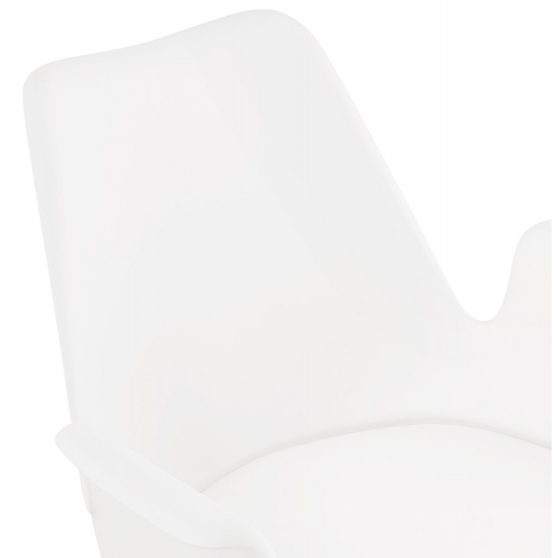 Industrial design chair with ORCHIS armrests in polypropylene (white) - image 43311