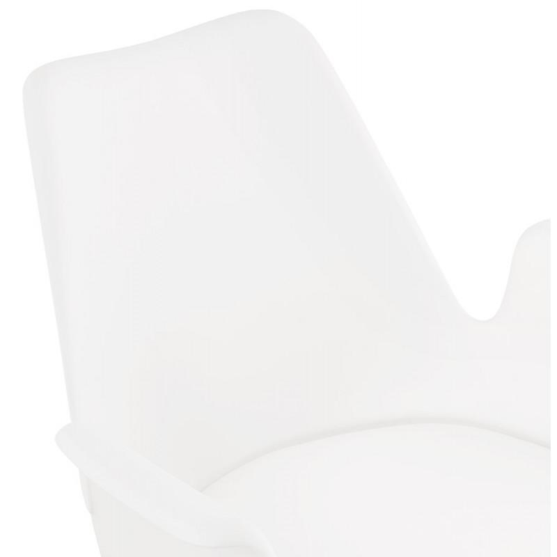 Chaise design industrielle avec accoudoirs ORCHIS en polypropylène (blanc) - image 43311