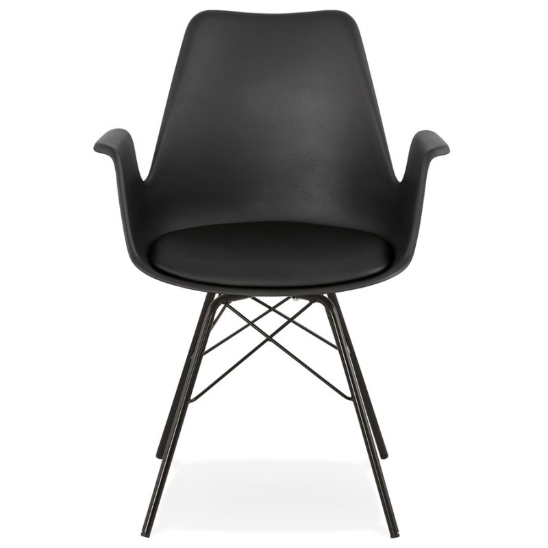 Industrial design chair with ORCHIS armrests in polypropylene (black) - image 43317