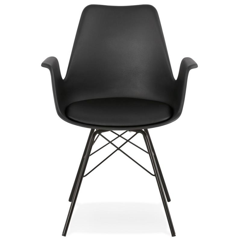 Chaise design industrielle avec accoudoirs ORCHIS en polypropylène (noir) - image 43317
