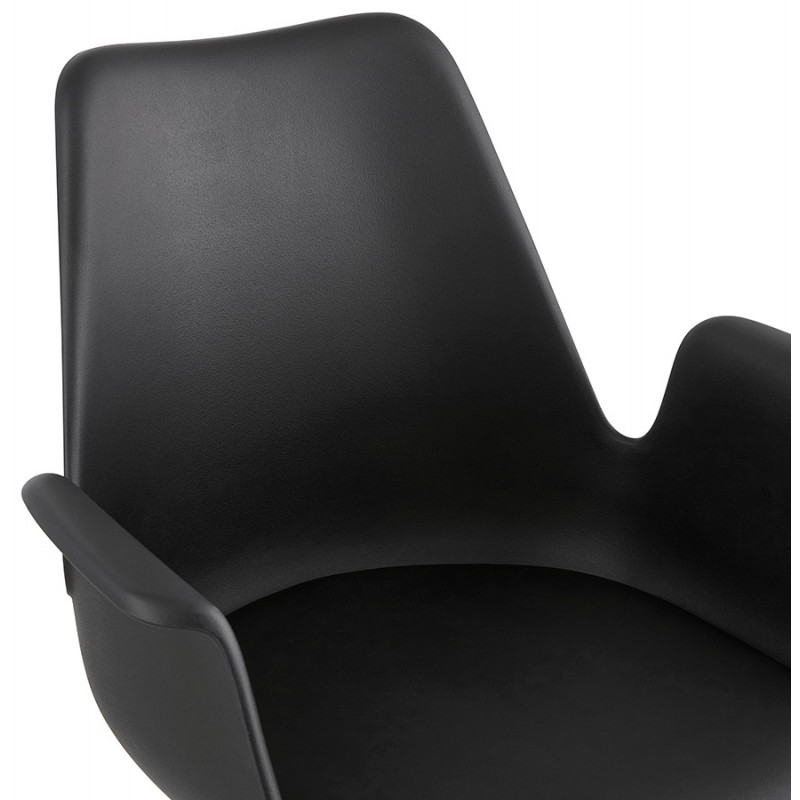 Industrial design chair with ORCHIS armrests in polypropylene (black) - image 43321