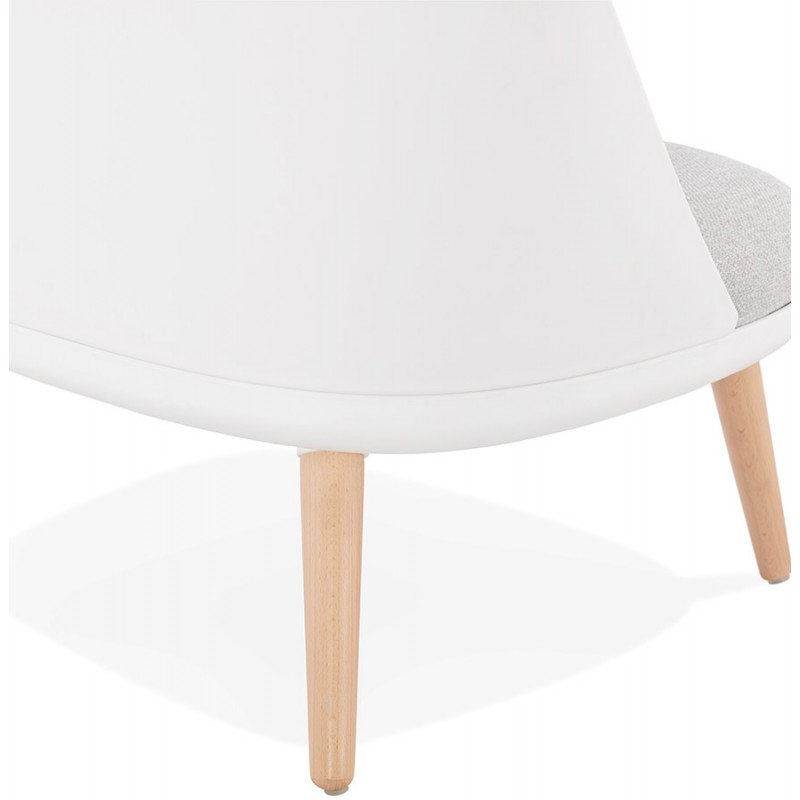 Fauteuil lounge design scandinave AGAVE (blanc, gris clair) - image 43334