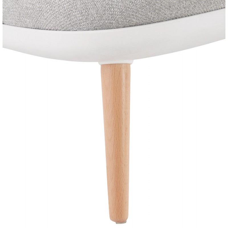 Fauteuil lounge design scandinave AGAVE (blanc, gris clair) - image 43335