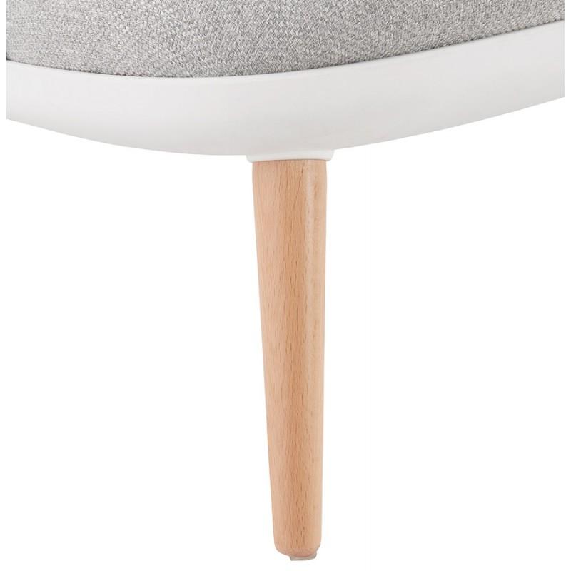 Silla de salón de diseño escandinavo AGAVE (blanco, gris claro) - image 43335