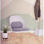 Silla de salón de diseño escandinavo AGAVE (blanco, gris claro)