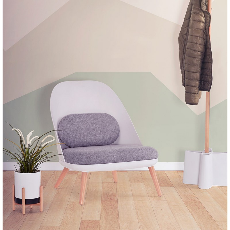 Silla de salón de diseño escandinavo AGAVE (blanco, gris claro) - image 43336