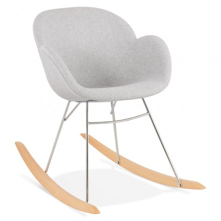EDEN design rocking chair in fabric (light grey)