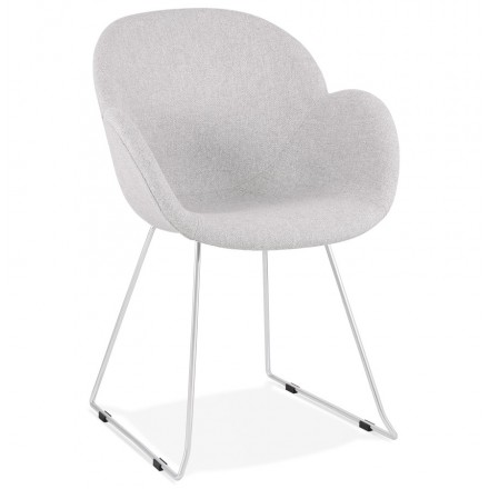 ADELE tapered foot design chair in fabric (light grey)