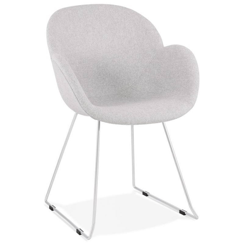ADELE tapered foot design chair in fabric (light grey) - image 43351