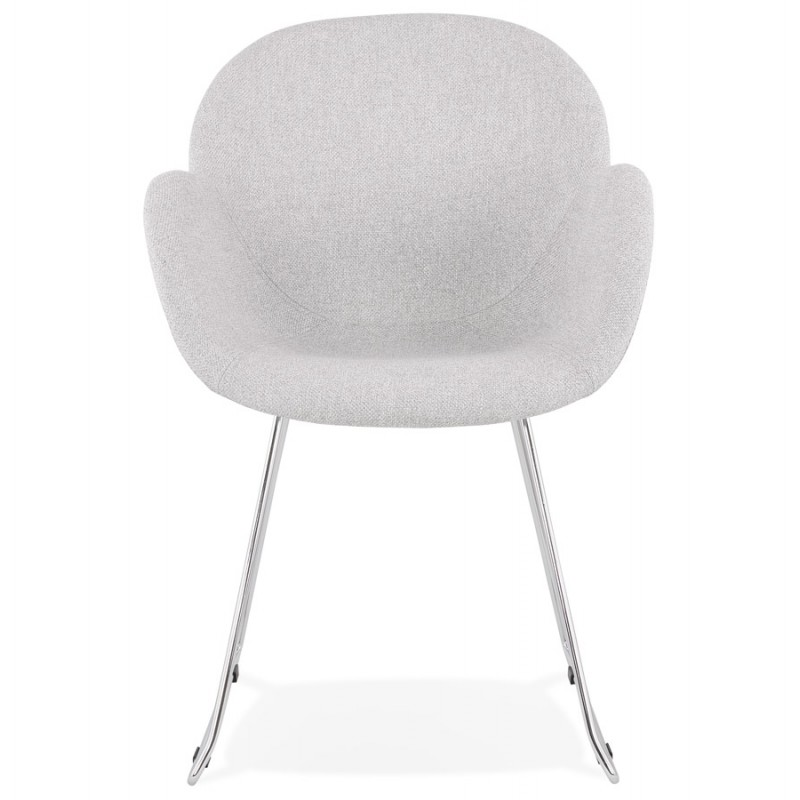 Chaise design pied effilé ADELE en tissu (gris clair) - image 43352