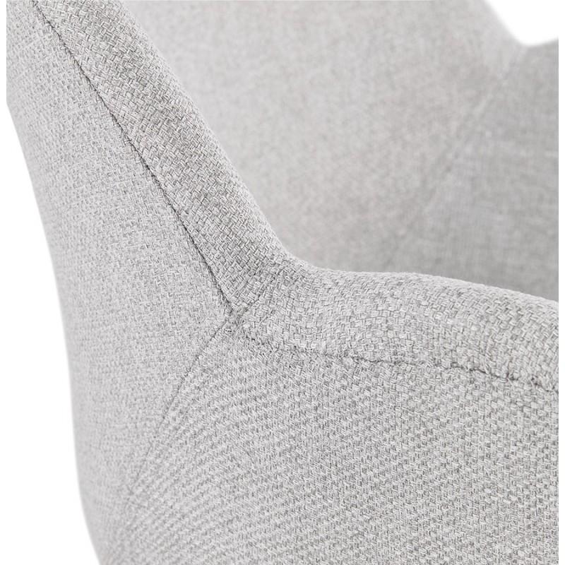 Chaise design style industriel TOM en tissu pieds métal noir (gris clair) - image 43385