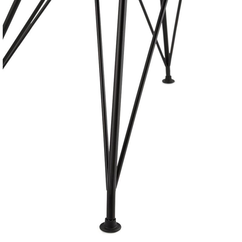 Chaise design style industriel TOM en tissu pieds métal noir (gris clair) - image 43386