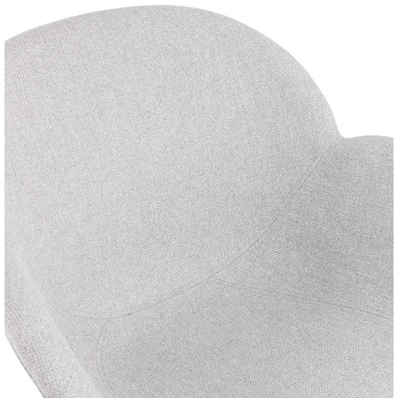 Chaise design style industriel TOM en tissu métal peint blanc (gris clair) - image 43407