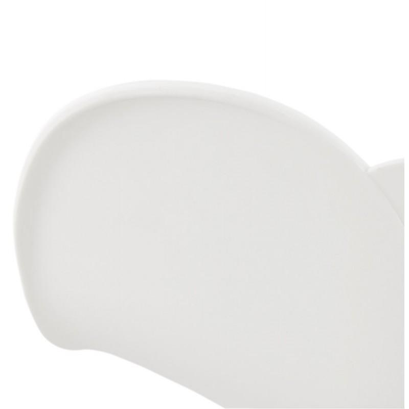 Chaise de bureau sur roulettes SORBIER en polypropylène pieds métal chromé (blanc) - image 43465