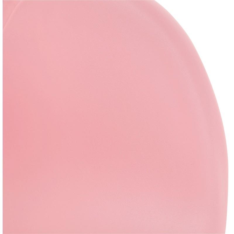 Chaise de bureau sur roulettes SORBIER en polypropylène  pieds métal chromé (rose) - image 43489