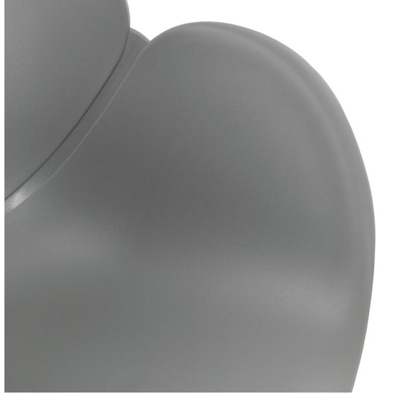Chaise de bureau sur roulettes SORBIER en polypropylène pieds métal chromé (gris) - image 43495