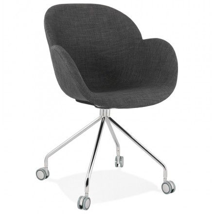 Office chair on CAPUCINE fabric wheels (anthracite grey)