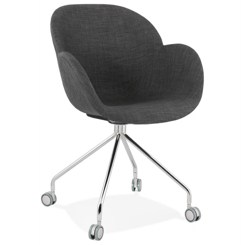 Bürostuhl auf CAPUCINE Stoffrädern (anthrazitgrau) - image 43499