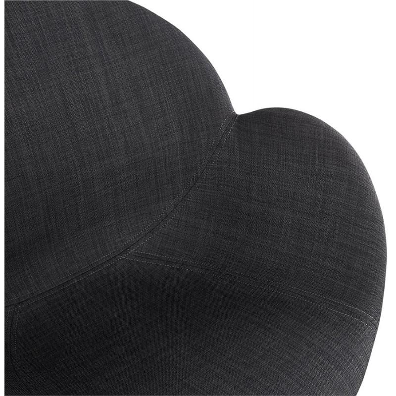 Chaise de bureau sur roulettes CAPUCINE en tissu (gris anthracite) - image 43502