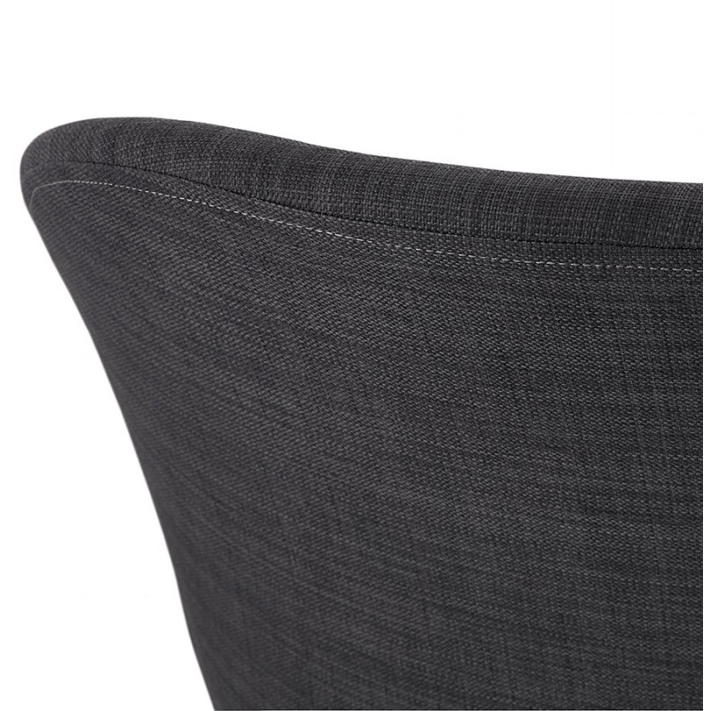 Chaise de bureau sur roulettes CAPUCINE en tissu (gris anthracite) - image 43505