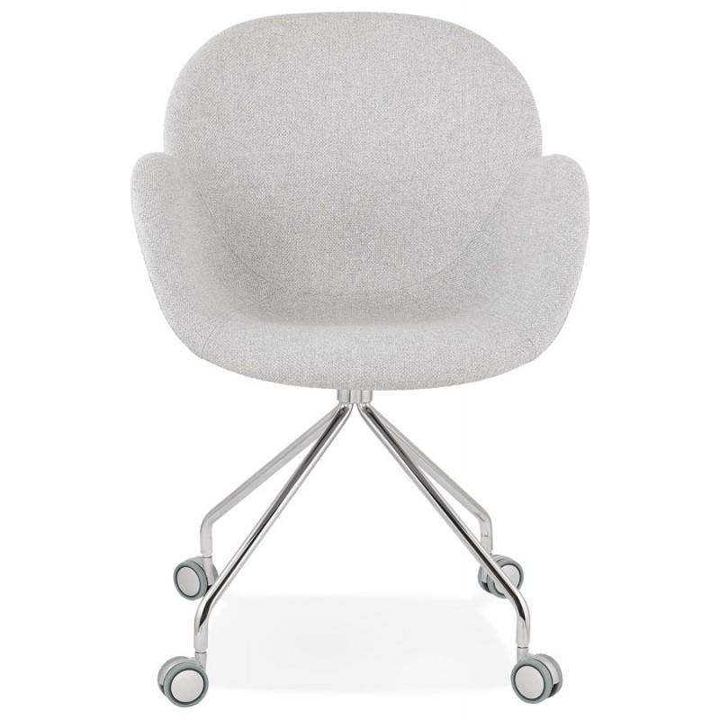 Sedia da ufficio su ruote CAPUCINE in tessuto (grigio chiaro) - image 43509