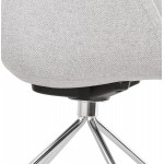 Office chair on CAPUCINE wheels in fabric (light grey)