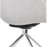 Silla de oficina sobre ruedas CAPUCINE en tejido (gris claro)