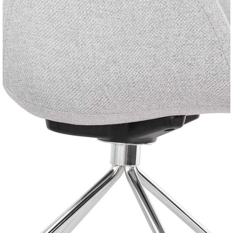 Chaise de bureau sur roulettes CAPUCINE en tissu (gris clair) - image 43513