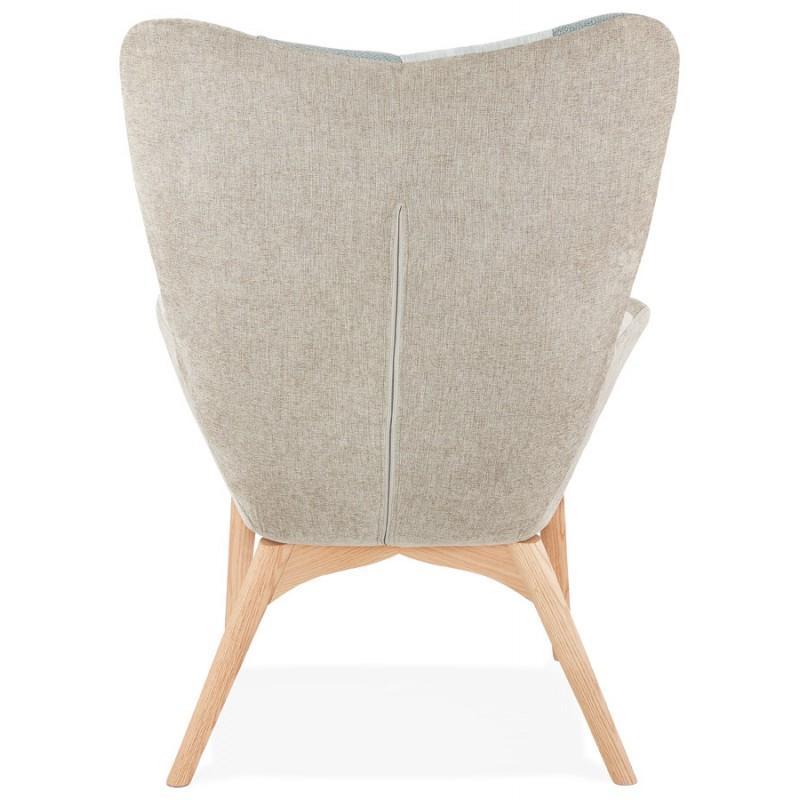 Fauteuil patchwork design scandinave LOTUS (bleu, gris, beige) - image 43577