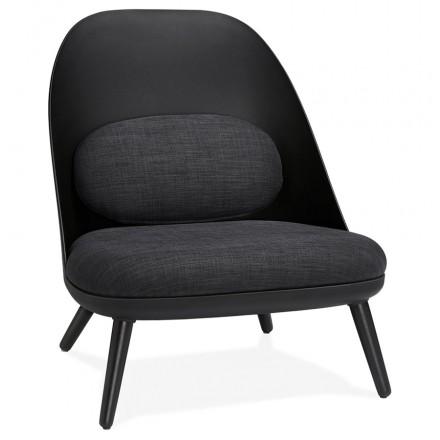AGAVE Sedia a sdraio di design scandinavo AGAVE (grigio scuro, nero)