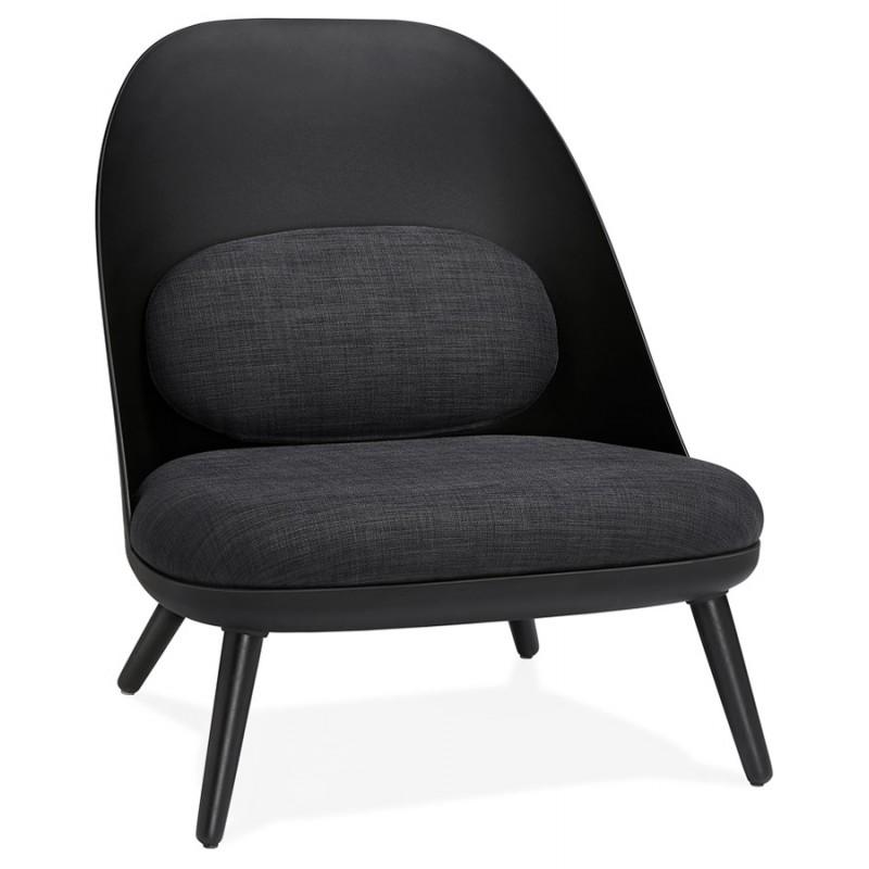 Fauteuil lounge design scandinave AGAVE (gris foncé, noir) - image 43587