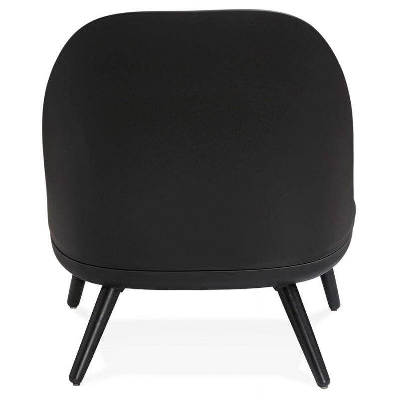 Fauteuil lounge design scandinave AGAVE (gris foncé, noir) - image 43591