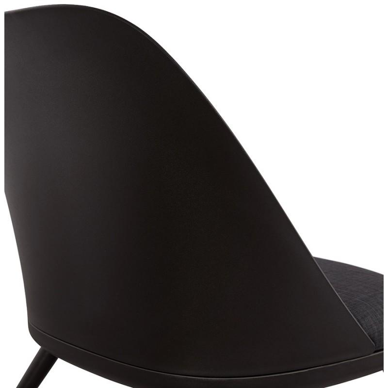 Fauteuil lounge design scandinave AGAVE (gris foncé, noir) - image 43596