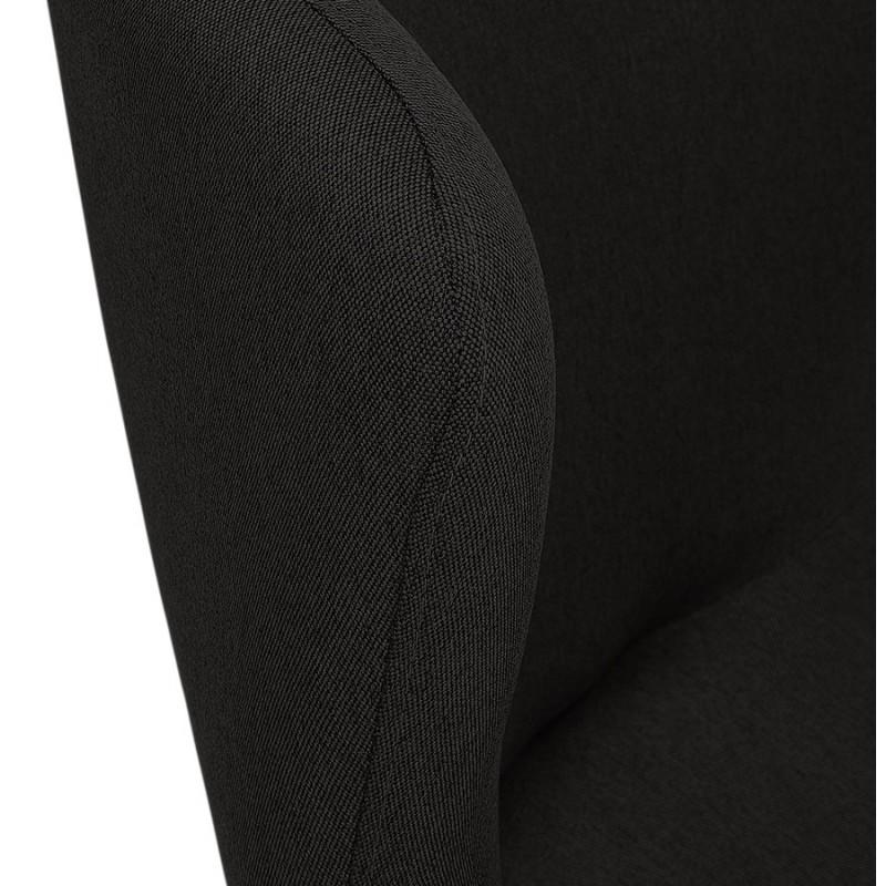 Fauteuil à oreilles contemporain LICHIS en tissu (noir) - image 43624