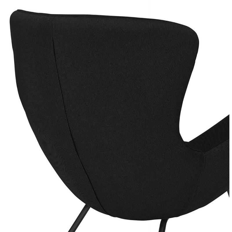 Fauteuil à oreilles contemporain LICHIS en tissu (noir) - image 43625