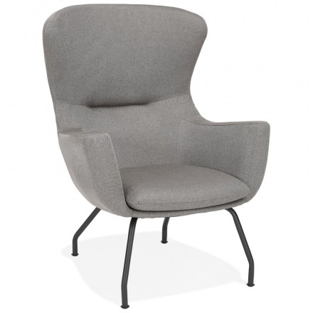CONTEMPORARY lichIS fabric ear chair (light grey)