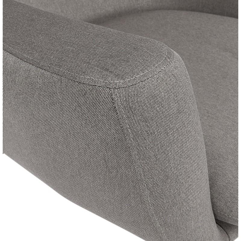 Fauteuil à oreilles contemporain  LICHIS en tissu (gris clair) - image 43637