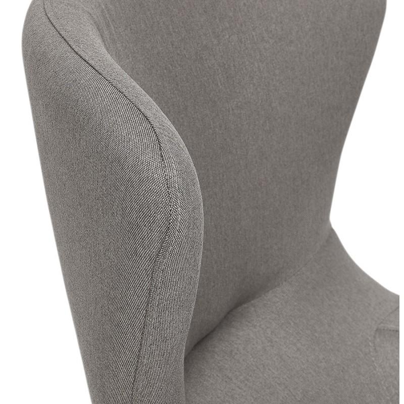 Fauteuil à oreilles contemporain  LICHIS en tissu (gris clair) - image 43638