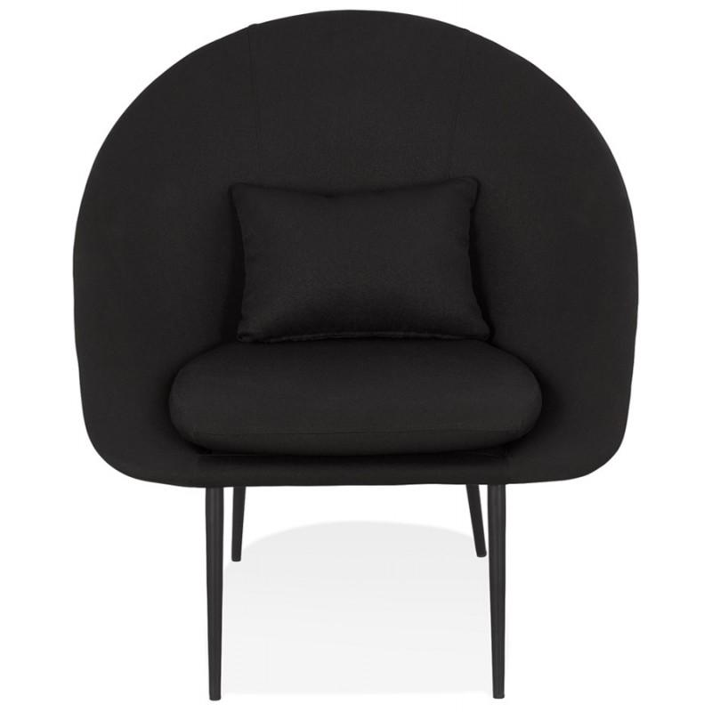 Fauteuil design lounge GOYAVE en tissu (noir) - image 43644