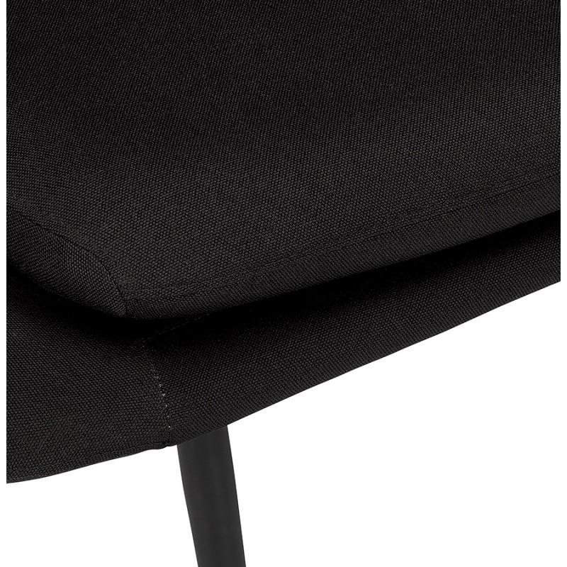 Fauteuil design lounge GOYAVE en tissu (noir) - image 43649