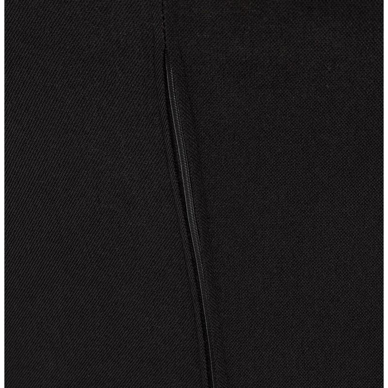 Fauteuil design lounge GOYAVE en tissu (noir) - image 43654