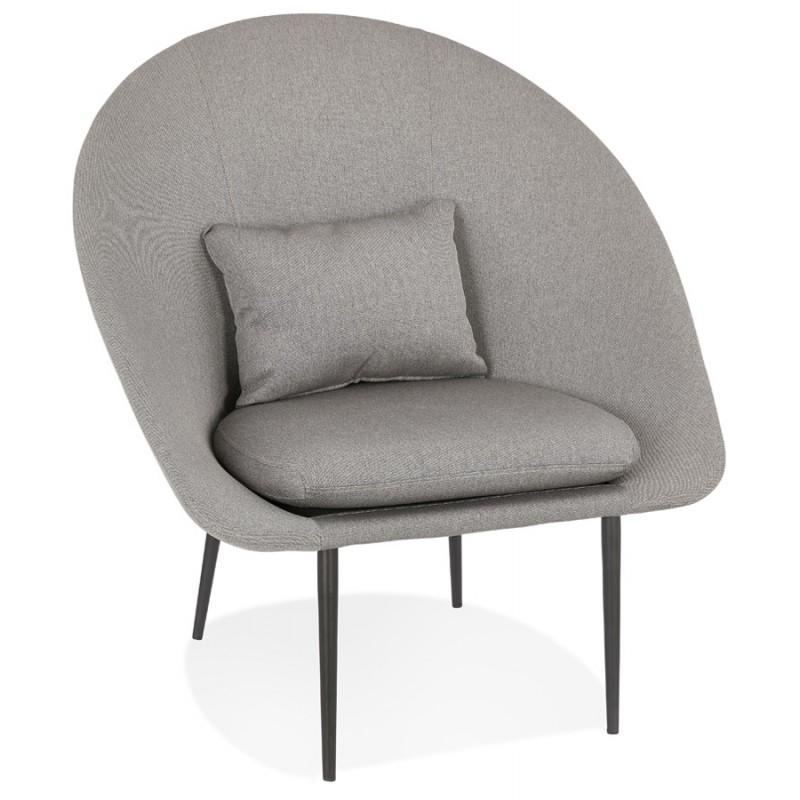 Fauteuil design lounge GOYAVE en tissu (gris clair)