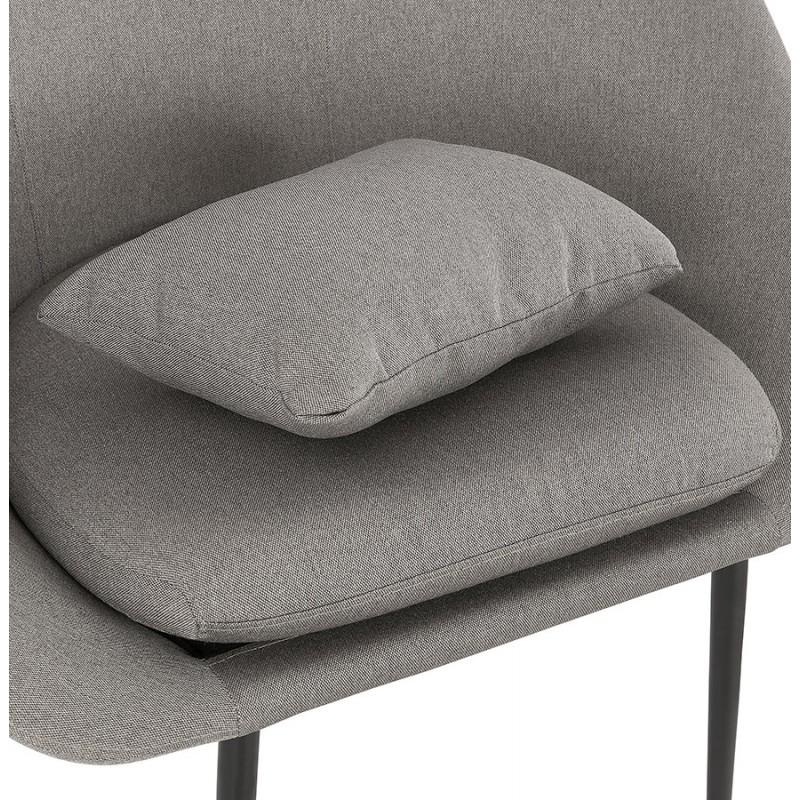 Fauteuil design lounge GOYAVE en tissu (gris clair) - image 43662