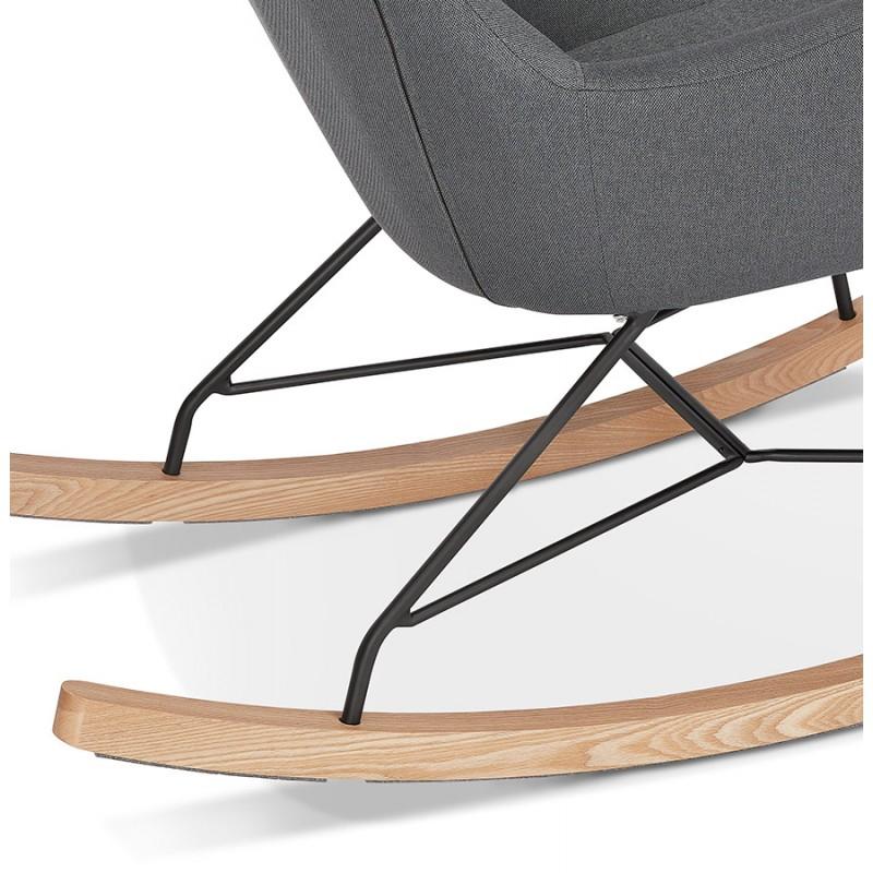 Rocking chair KABOSU en tissu (gris clair) - image 43680
