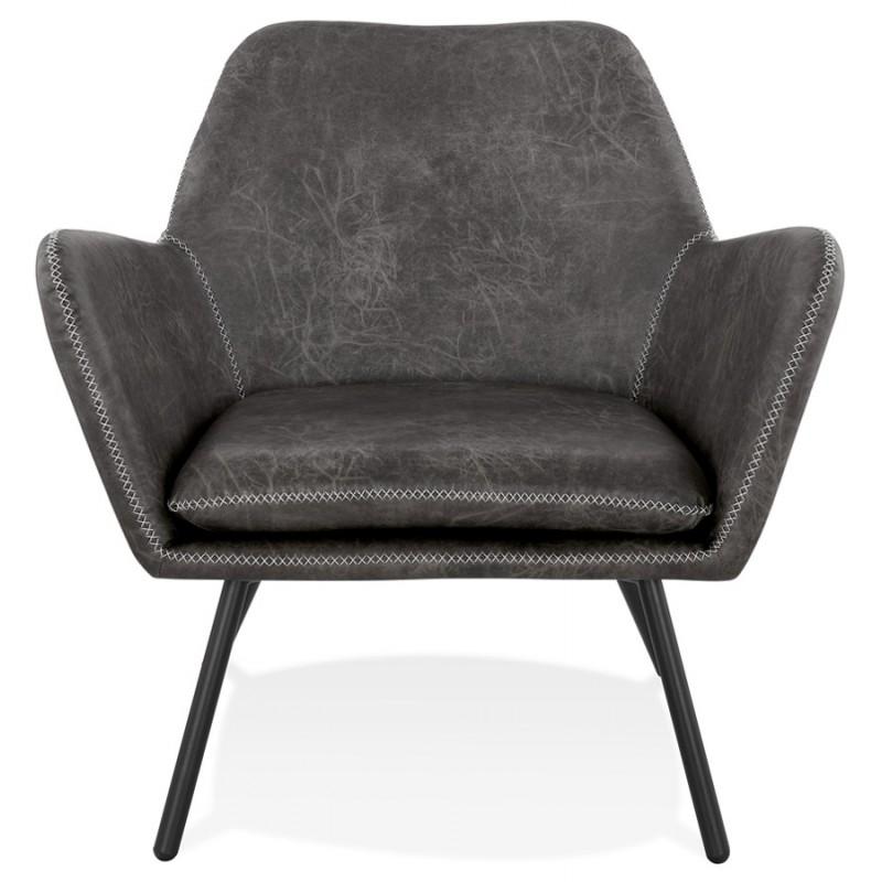 Fauteuil lounge rétro et vintage HIRO (gris foncé) - image 43684