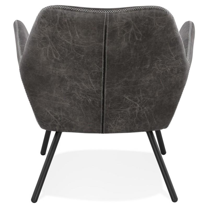 Fauteuil lounge rétro et vintage HIRO (gris foncé) - image 43687
