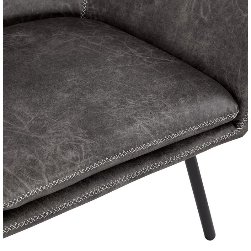 Fauteuil lounge rétro et vintage HIRO (gris foncé) - image 43689